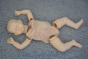 GabyGail ASLEEP Vinyl Kit, LE500 Unpainted Vinyl doll parts ONLY