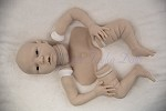 LayAway Ashby  (awake) Silicone doll Kit Caucasian Skin tone, unpainted silicone parts.